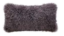 Auskin SHEEPSKIN CURLY  CUSHION IN JARRAH - 11 X 22