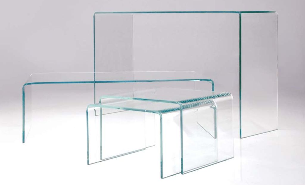 Mobital GLACIER Rectangular Glass Coffee Table