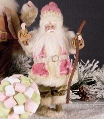 K & K 14 Inch Pink Standing Santa