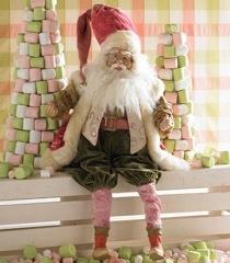 K & K 28 Inch Pink Santa Stocking