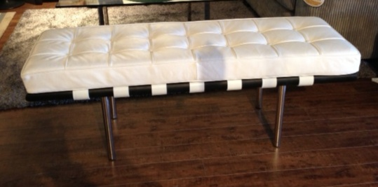 Mobital Metropolis bench in white leather