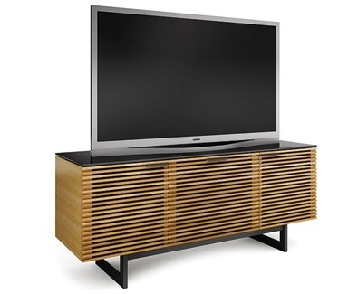 BDI USA Three Component Wide Corridor Entertainment Unit, Chocolate Stained Walnut