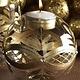 K & K 4 Inch Round Clear & Gold Tea Light Candleholder