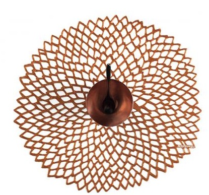 Chilewich Chilewich Dahlia Placemat in Rose Gold