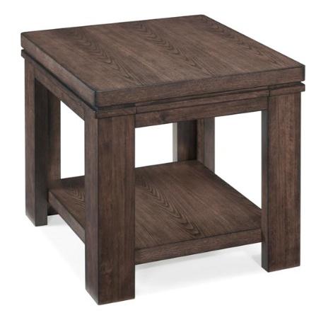 Magnussen Harbridge Rectangular End Table in warm nutmeg