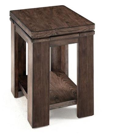 Magnussen Harbridge Rectangular Chairside Table in warm nutmeg