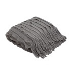 Torre & Tagus Ruffle Throw - Grey