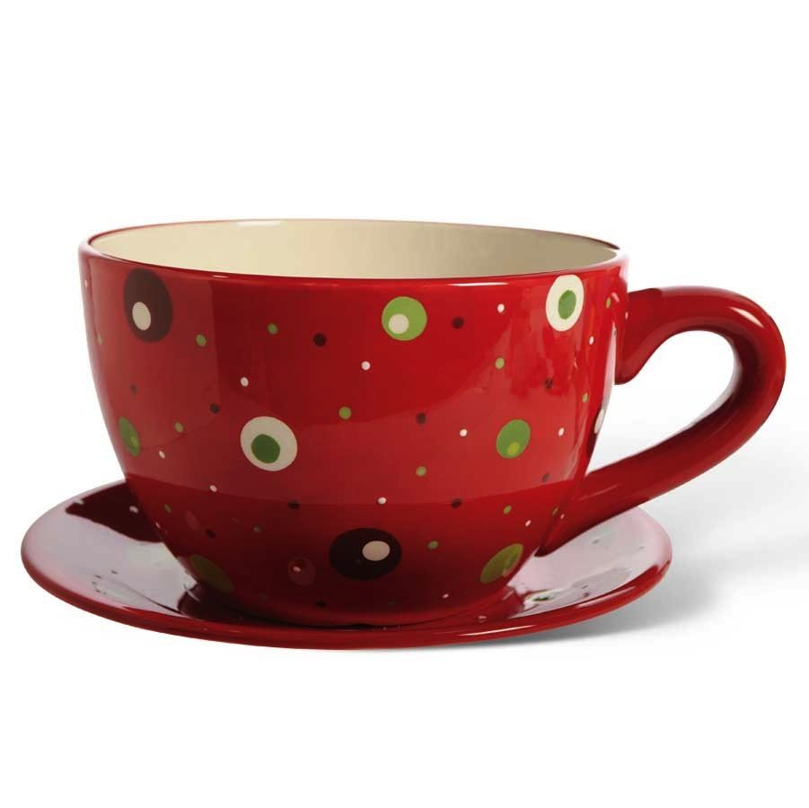 K & K Giant Polka Dot Cup and Saucer