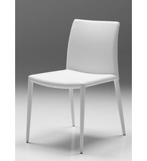 Mobital Zeno Dining Chair In White Leatherette