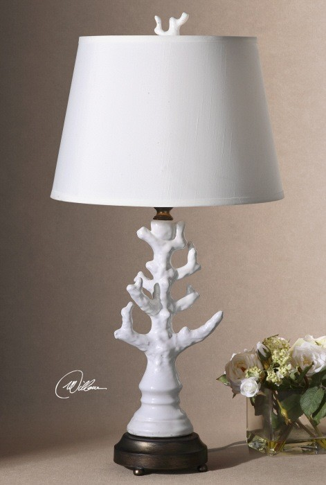 """Uttermost Coral 32"""", 150W, 3-way table lamp"""