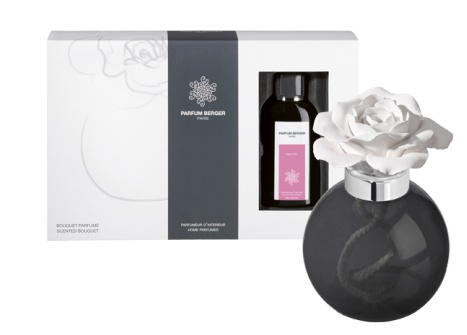 Lampeberger A very delicate ceramic rose and its integral cup, enabling you to place it where you choose without the fragrance damaging surfaces.