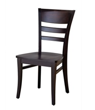 Sahara Furniture Malia Side Chair, Maple, upholstered seat in 087 Puzzle Chocolate, Espresso finish