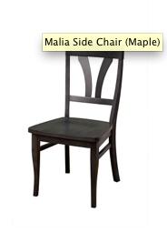 Sahara Furniture Metro Side Chair, Maple, wood seat, Charcoal finish