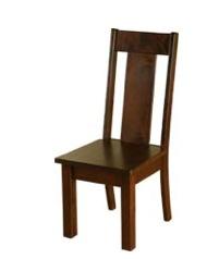 Sahara Furniture Studio Side Chair, Maple, wood seat, Black Ash finish