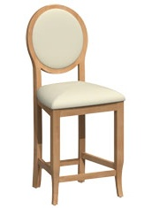 Bermex Bar Stool finished in Chamois Ebony and F182