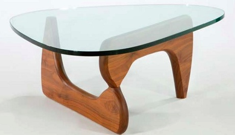 Mobital Natura Coffee Table  with Glass top and American walnut base.