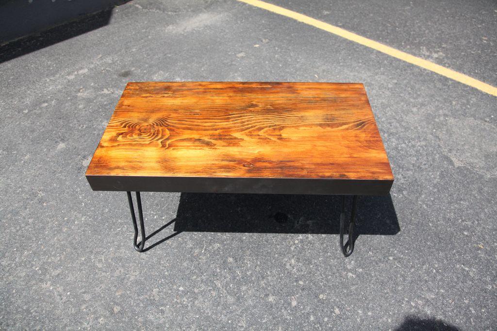 Alex Neidbala Coffee Table with iron legs