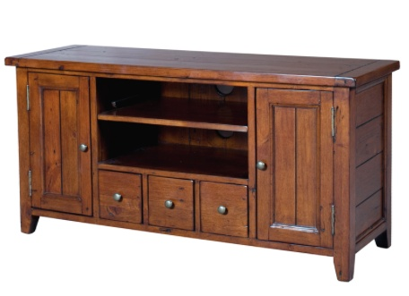LH Imports Irish Coast Small TV cabinet.  Stain in African Dusk.