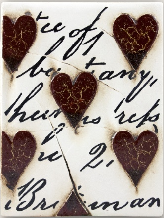 Sid Dickens Red Hearts with Script