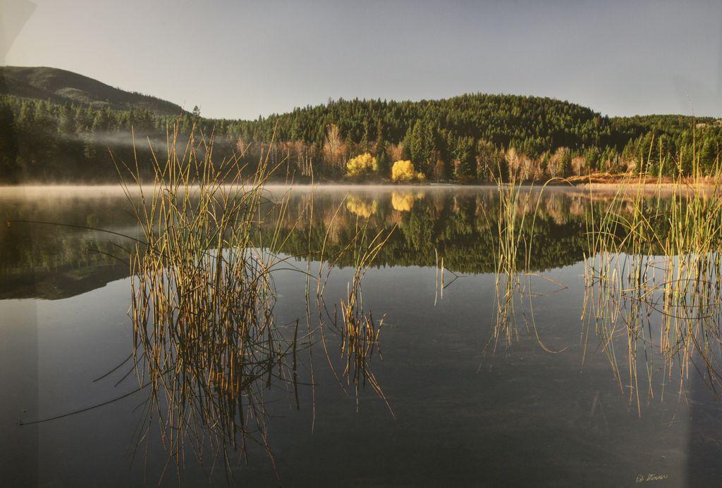 Mist on Little Heffley - A beautiful fall day at Little Heffley Lake.
