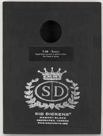 Sid Dickens Scarlet