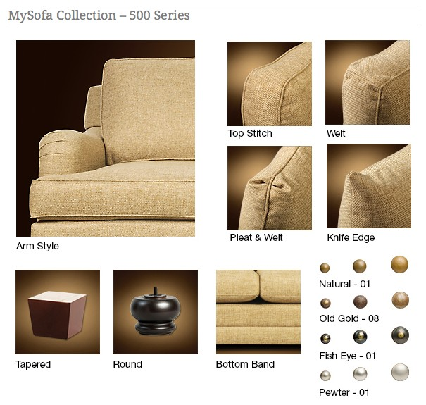 M-500 Sofa - My Sofa Collection 500 Series