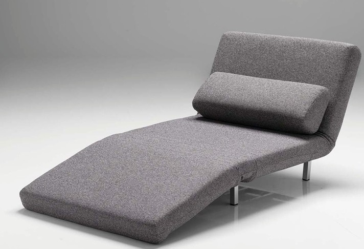 Mobital ISO Pivoting Chair Bed in Bark Tweek Fabric
