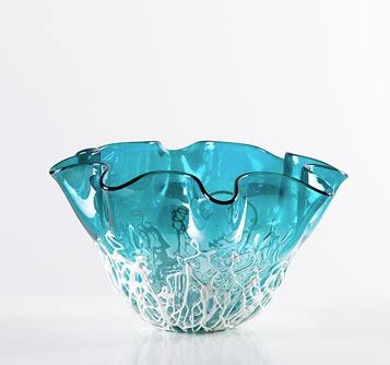Torre & Tagus Ripped Glas Luster Vase - Wide