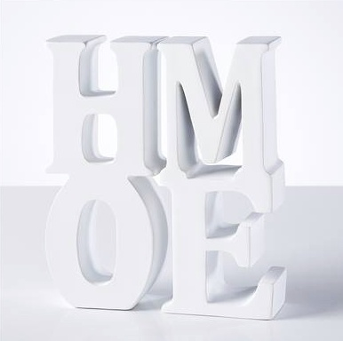 Torre & Tagus Word Art Resin Bookends - Home