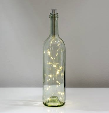 Torre & Tagus WINE BOTTLE 20 MICRO LED LANTERN-CLEAR