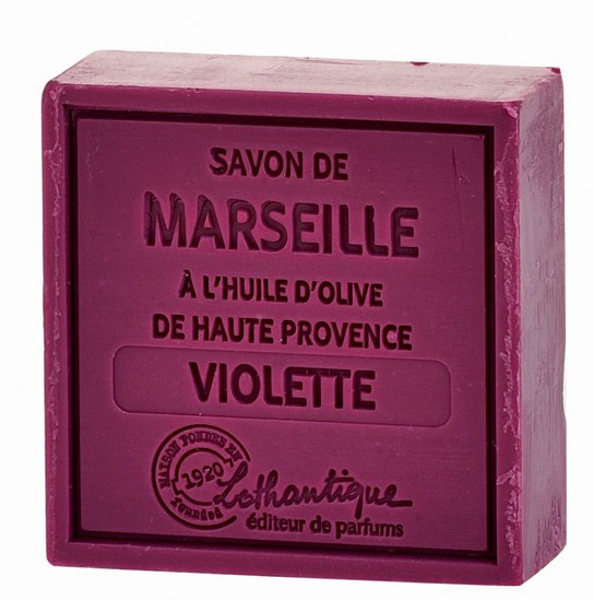 Lothantique Savon de Marseille 100g Soap - Violet