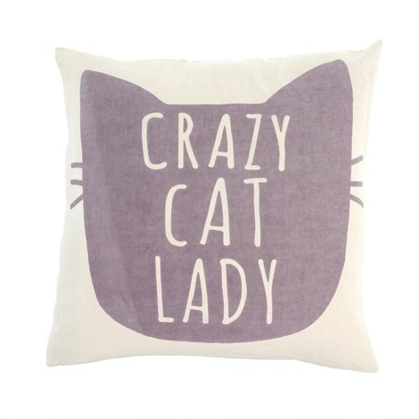 CRAZY CAT LADY  TOSS PILLOW