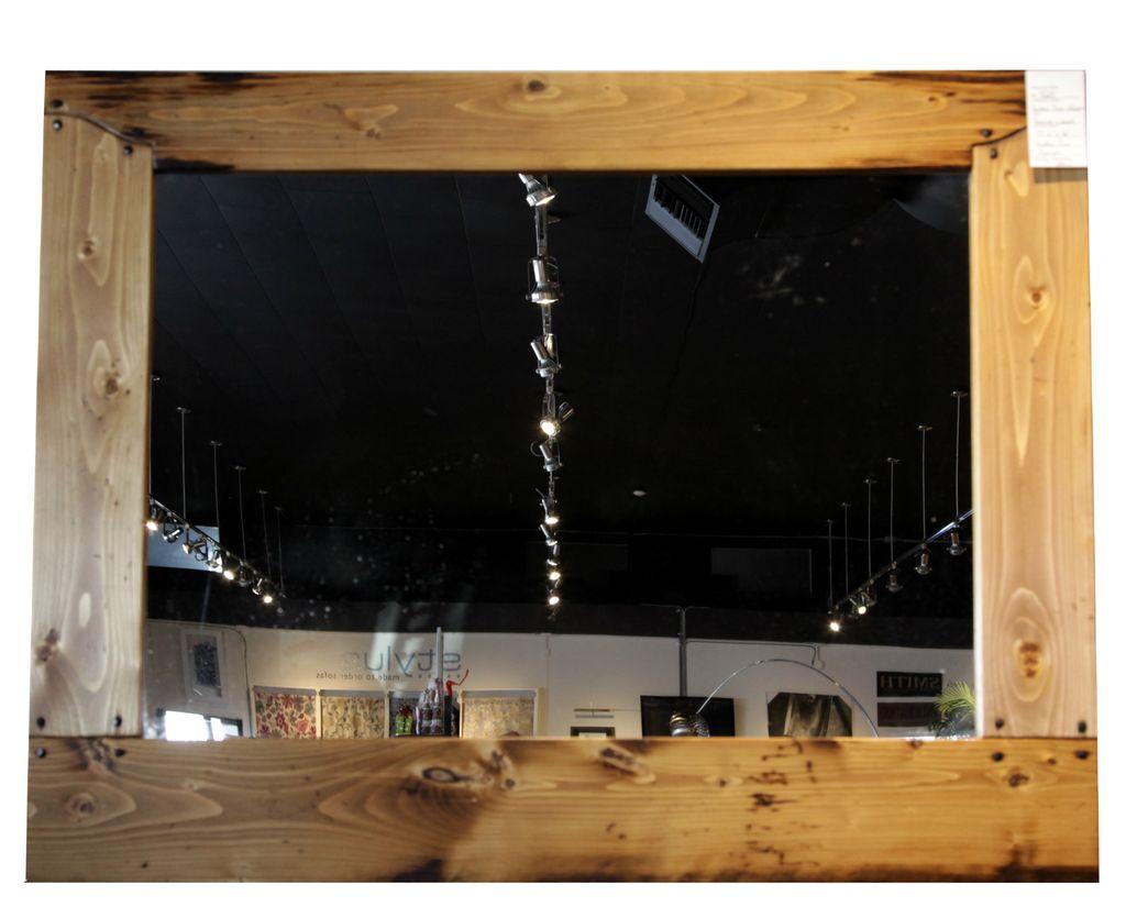 Burnt Woods Studio Rustic Pine Mirror