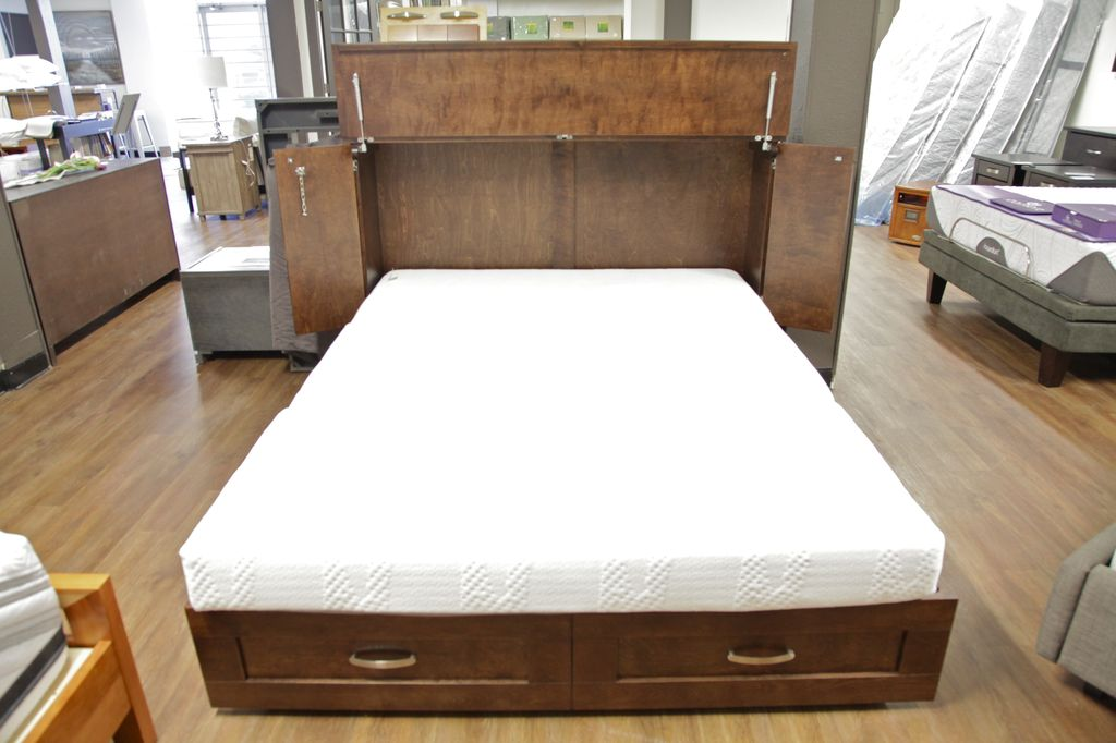 Cabinet Bed Cabinet Bed Country Style -Queen