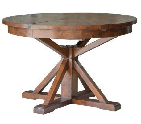 LH Imports Irish Coast Round Extension Dining Table