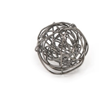 Torre & Tagus Spiral Large Wire Ball - Onyx