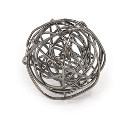Torre & Tagus Spiral X-Large Wire Ball - Onyx