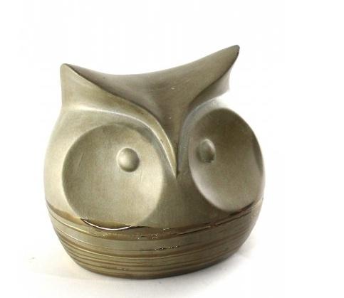SOVY GOLD CERAMIC OWL - SHORT