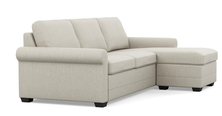 Palliser Inspirations Sofa with Chaise with rolled arms and low leg