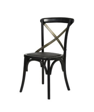 LH Imports Cross Back Dining Chair