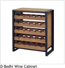 LH Imports D-Bodhi 25 bottle wine rack<br />recycled teak and metal