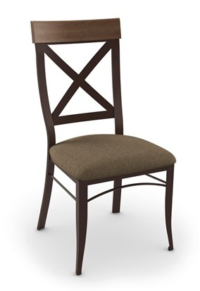 Amisco Kyle Dining Chair with upholstered seat