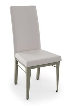 Amisco Merlot Dining Chair <br /> Fabric:Stratus<br /> Metal: Black Coral<br /> Wood: Hazy