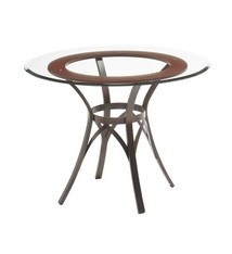 Amisco Kai Table Base With Solid Wood Accent