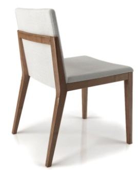 Huppe Moment Chair in charcoal stain and Chess 060 fabric