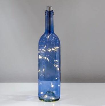 Torre & Tagus WINE BOTTLE 20 MICRO LED LANTERN-BLUE