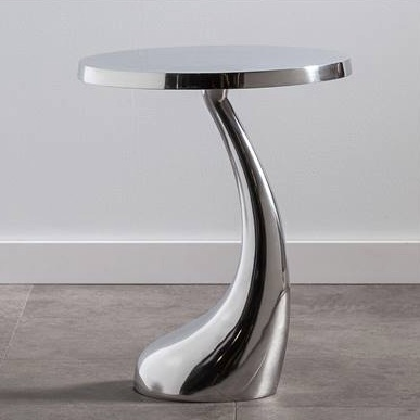Torre & Tagus Teardrop Aluminum Side Table