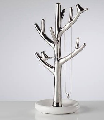 Torre & Tagus Bird on Branch Ceramic Jewelry Tree - Tall