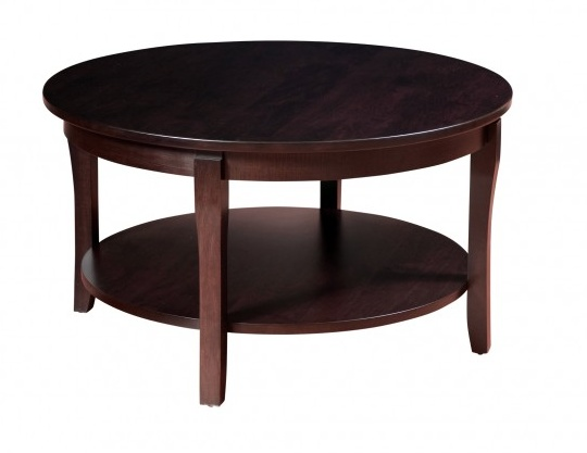 """Woodworks SOHO 36"""" Round Wood Top Coffee Table"""