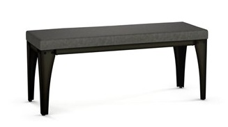 Amisco Upright Bench with Upolstered Seat